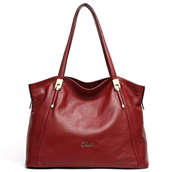 CLUCI Leather Handbags Designer Tote Shoulder Bag Satchel Purse ...