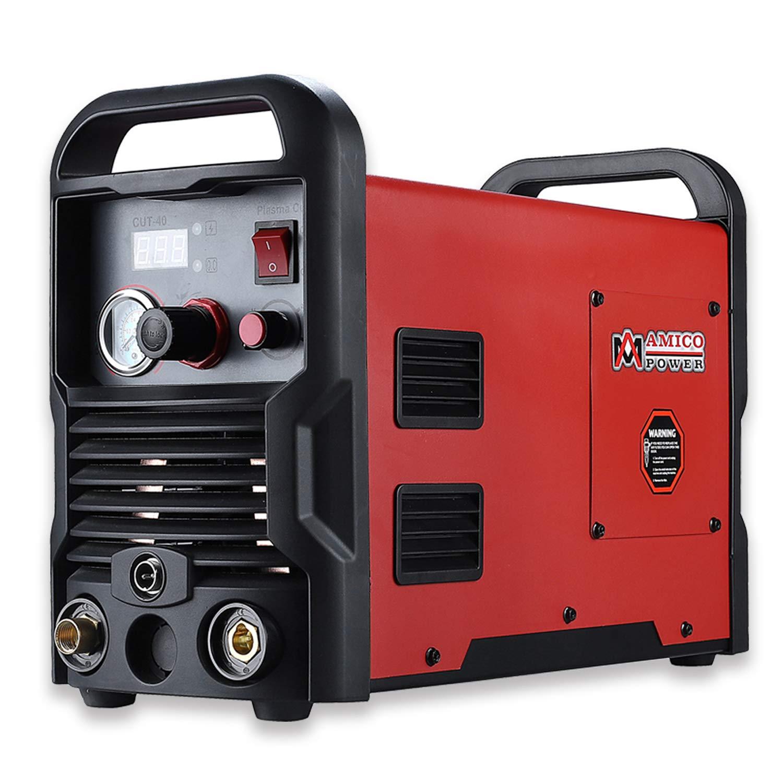 Amico CUT-40, 40 Amp Plasma Cutter 1/2 in. Clean Cut 110/230V Compatible IGBT Inverter Cutting Machine by Amico