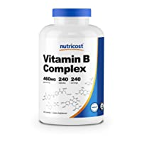 Nutricost High Potency Vitamin B Complex 460mg, 240 Capsules - with Vitamin C -...