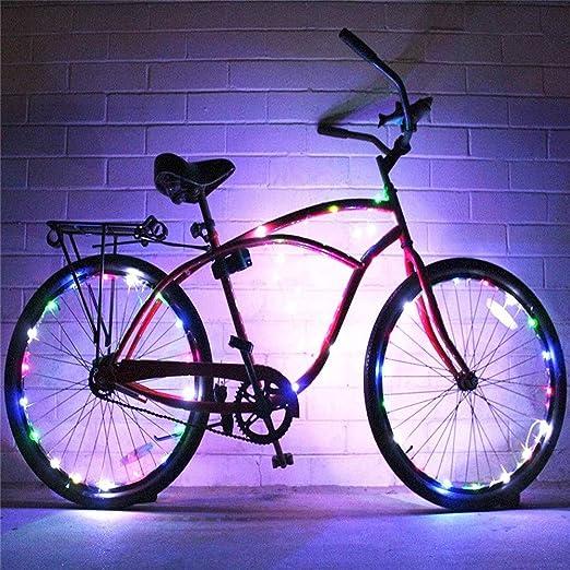 Piloto trasero 2 Conjunto de cadena de luz de rueda de bicicleta ...