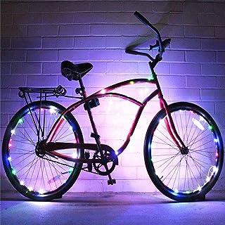 Luce della bici 2 Set di ruote per bici da corsa String LED ultra luminose Colori assortiti Accessori per pneumatici per bici Luci per cerchi bici Luci a raggi ultraviolette LED per bici da corsa impe