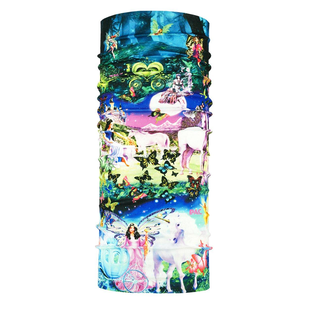 nahtloses Mikrofaser Schlauchtuch Halstuch Fairy World Multifunktionstuch 10 Anwendungsm/öglichkeiten Kopftuch Kids UV Protector P.A.C Unisex UV-Schutz