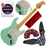 Tagima TG530-SG Woodstock Series Strat Style Electric Guitar, Surf Green with Guitar Strap