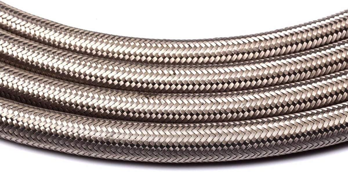 KABOCHO 10AN 10 Ft Universal Premium Braided Stainless Steel Fuel Line Filler Feed Hose Ends Kit