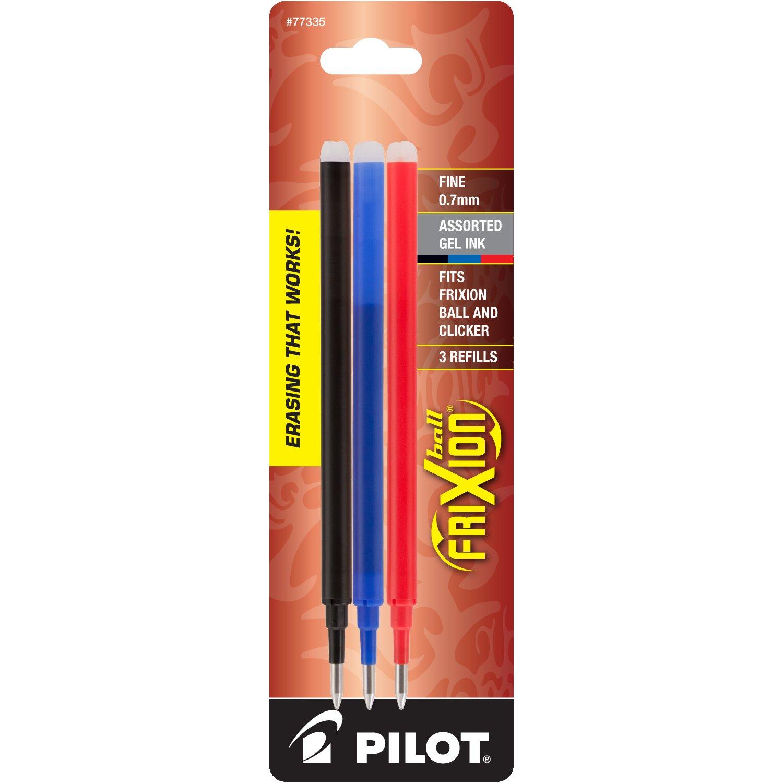 Recarga Tinta Pilot 0.7mm Negro/Azul/Rojo (77335) [3un.]