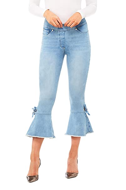 Amazon.com: Luxe Denim Slims Crop Jeans dobladillo de Bell ...