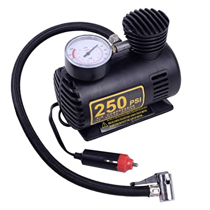 Amazon.com: Super buy 250 PSI 12V Car Auto Portable Pump Tire Inflator Mini Air Compressor w/gauge: Home Improvement