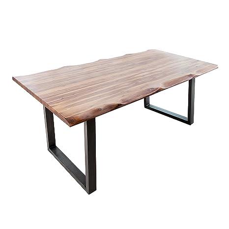 Massiver Baumstamm Tisch Genesis 200cm Akazie Massivholz Baumkante