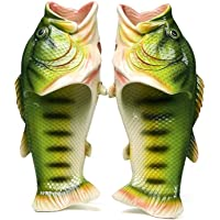 RAN-SHA Fish Slippers Beach Shoes Pool Non-Slip Sandals Men and Women Casual Shoe Green