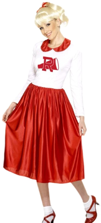 Karnevalsbud - Damen Fantasy Kostüm Rotweiss, M, Mehrfarbig