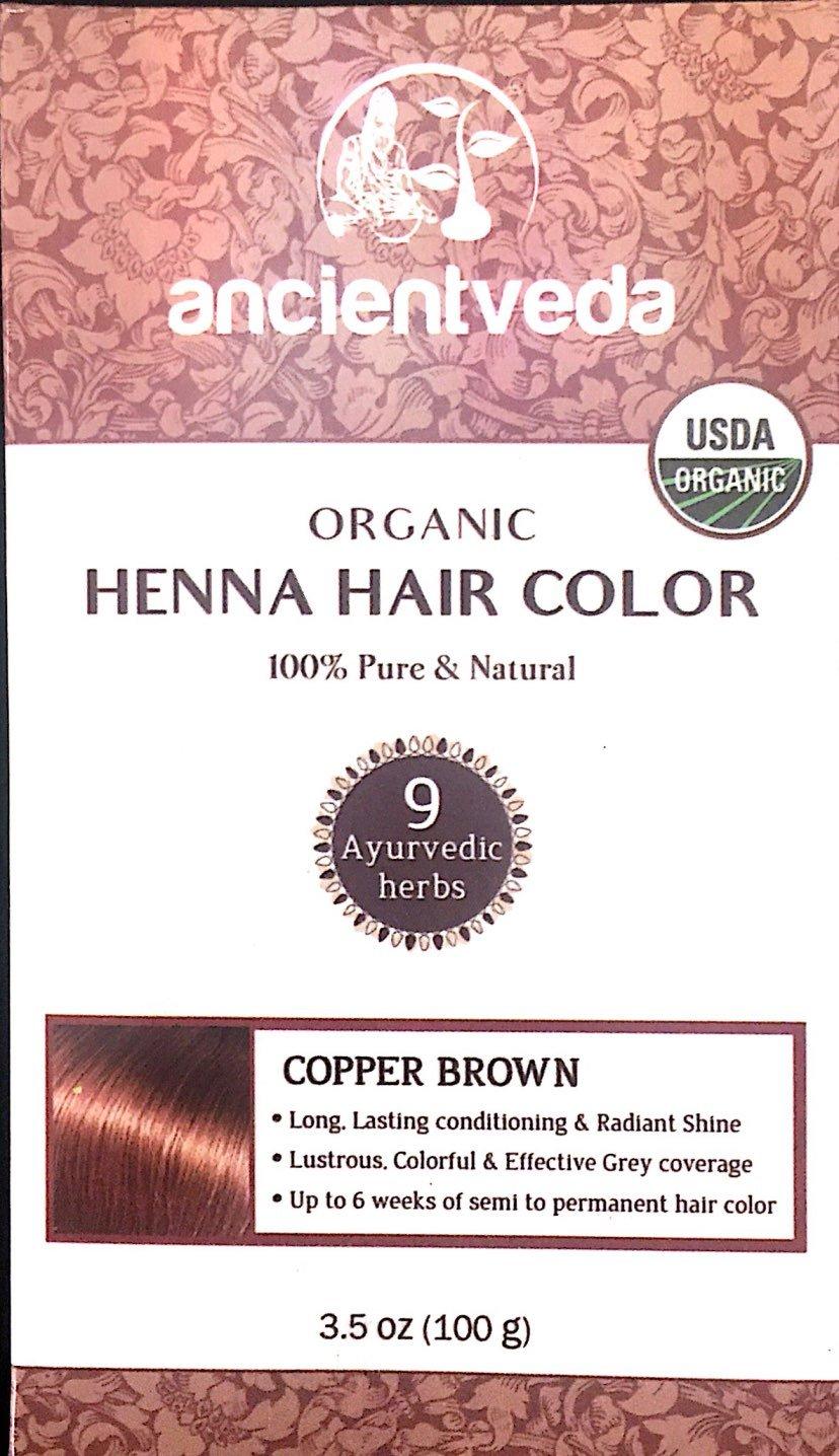 Amazon Com Ancient Veda Organic Henna Hair Color Usda Certified