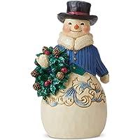 Enesco Jim Shore Heartwood Creek Victorian Snowman with Wreath Figurine