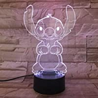 WoloShop Lampara LED Stitch Cambia Color USB Luz