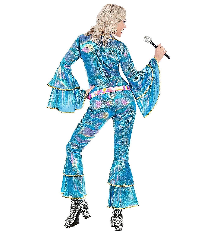 Color Rosa Azul Claro WIDMANN 48423/Adultos Disfraz Discoteca Queen