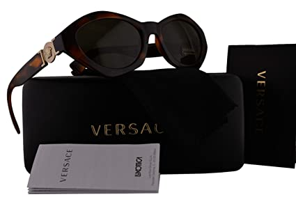 4699793bfa3 Image Unavailable. Image not available for. Color  Versace VE4334 Sunglasses  Havana w Green Lens 511971 VE 4334