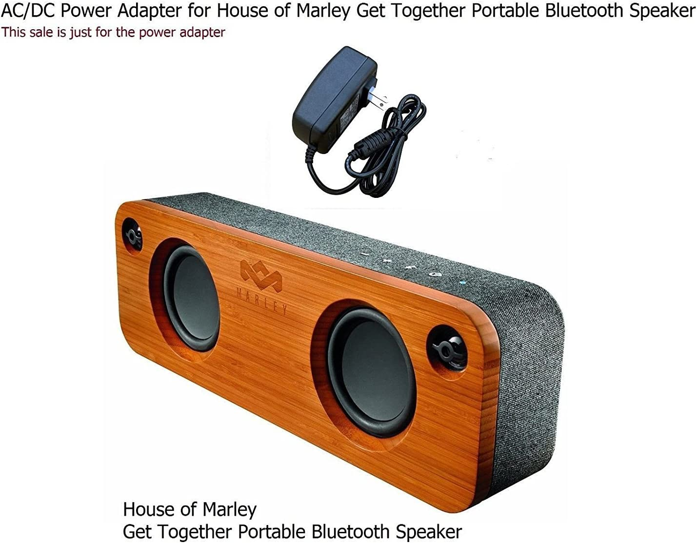 AC Power Adapter For House of Marley Get Together Mini BT Portable Audio System