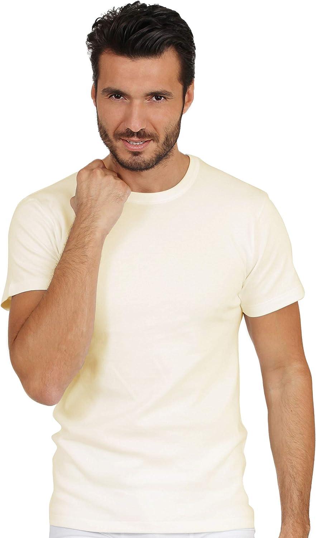 EGI Luxury 100% Merino Wool Men's Short Sleeve T-Shirt. Proudly Made in Italy.