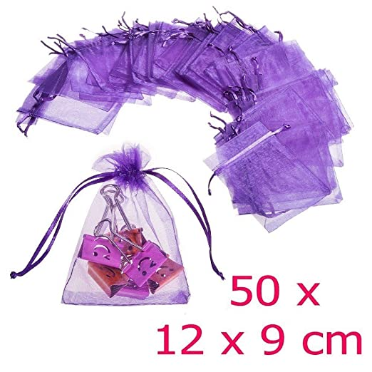 94 opinioni per JZK® 50 x Viola 9x12cm sacchetti sacchettini riso portariso portaconfetti