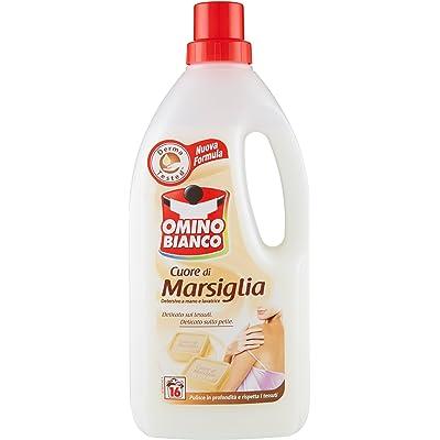 Muñeco blanco–Corazón de Marsella, Detergente delicada para ropa–3unidades de 1L [3L]