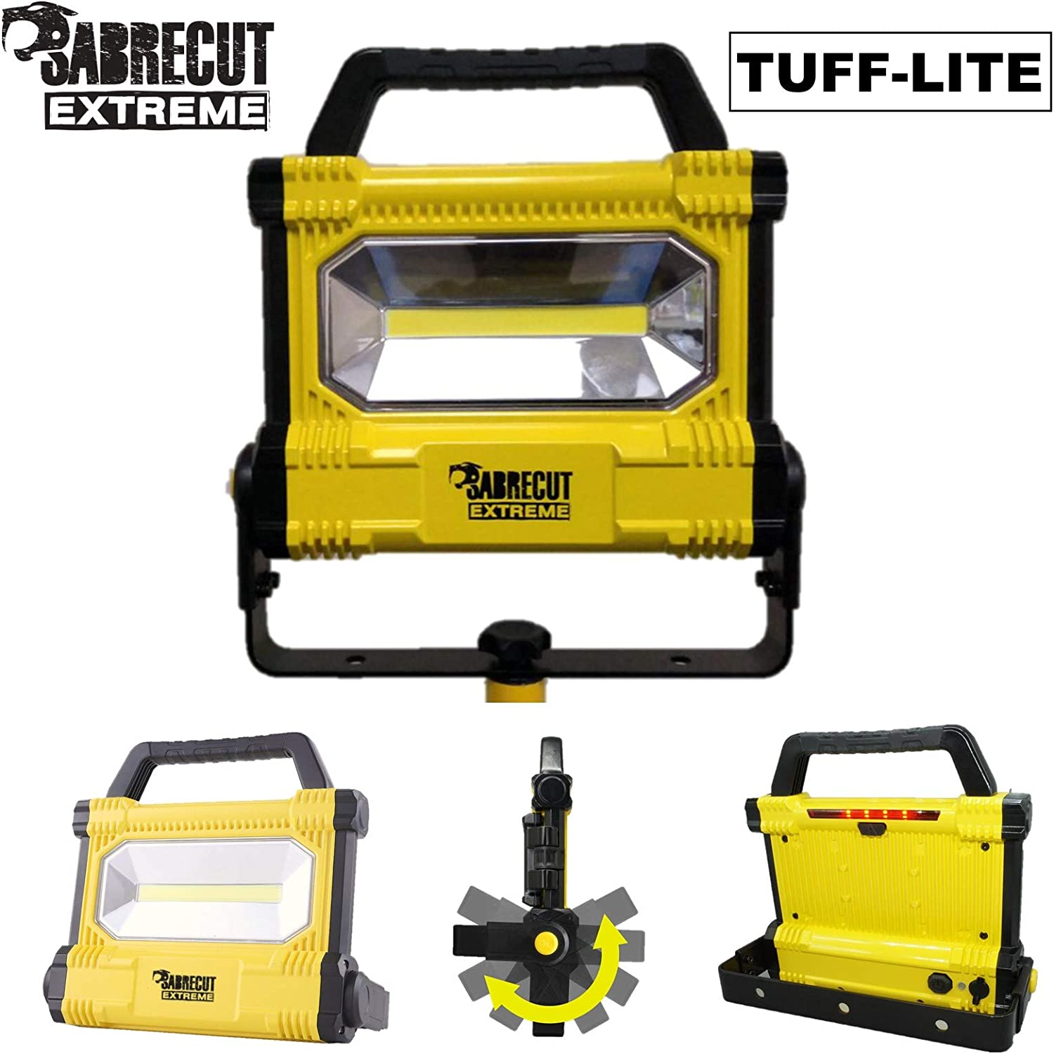SabreCut SCLED706DCUK 30W 2700lm Luz de trabajo recargable sin cable profesional LED IP54