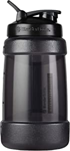 BlenderBottle Hydration Extra Large Koda Water Jug, 2.2-Liter, Black