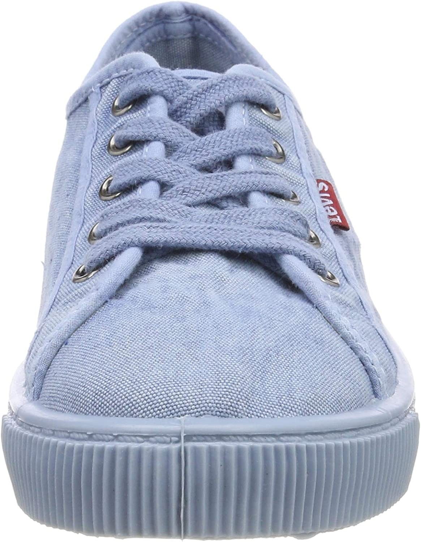 Levi's Malibu Beach S voor dames Trainers Blue Light Blue 13