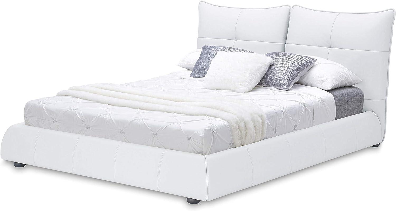 San Remo Schlafbett Doppelbett lifestyle4living Bett wei/ß Schlafzimmerbett Kojenbett 140x200