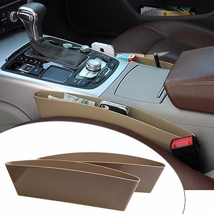 MotoPanda Car Seat Catcher Set Of 2 Organizer Beige Color