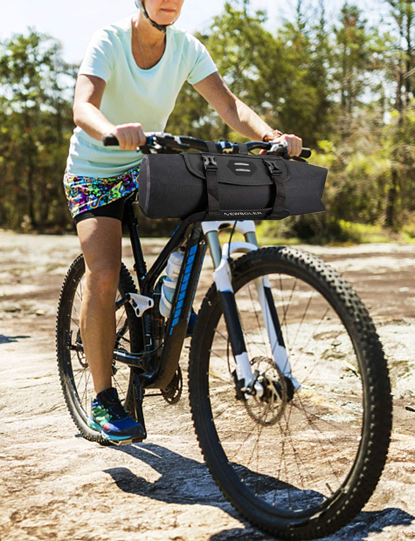 Lixada Roswheel Blu Borsa da Fissare al Manubrio della Bici BTR con Tracolla Removibile