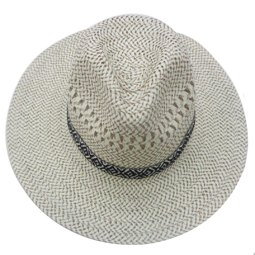 E-Like Spring and Summer Men's Lifeguard Sun Hats Woven Farmer Straw Hats