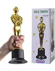 Prextex 10-Inch Gold Award Trophy for Trophy Awards and Party Celebrations, Award Ceremony, and Appreciation Gift,