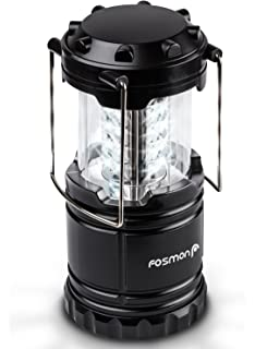 Great Addition to: Survival Kits Hurricane Outdoor Portable Lantern Black EVERWELL 2 Pack LED Camping Lantern Battery Powered Collapsible Outages Storm Emergency
