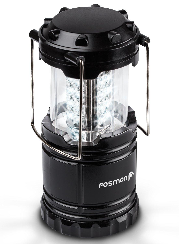 KLAPPBAR Fosmon LED Campinglampe//Portable LED Au/ßenleuchte//Camping Laterne//Camping Beleuchtung//Nachtlicht Wandern//Notfall//Angeln//Gartenarbeit Batteriebetrieb|WASSERDICHT Schwarz