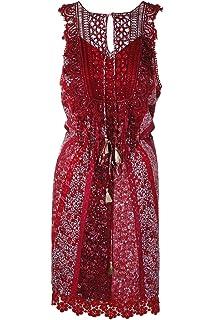 92012982bf0ad Elie Tahari Womens Demetria Silk Crochet Trim Cocktail Dress Taupe 6 ...