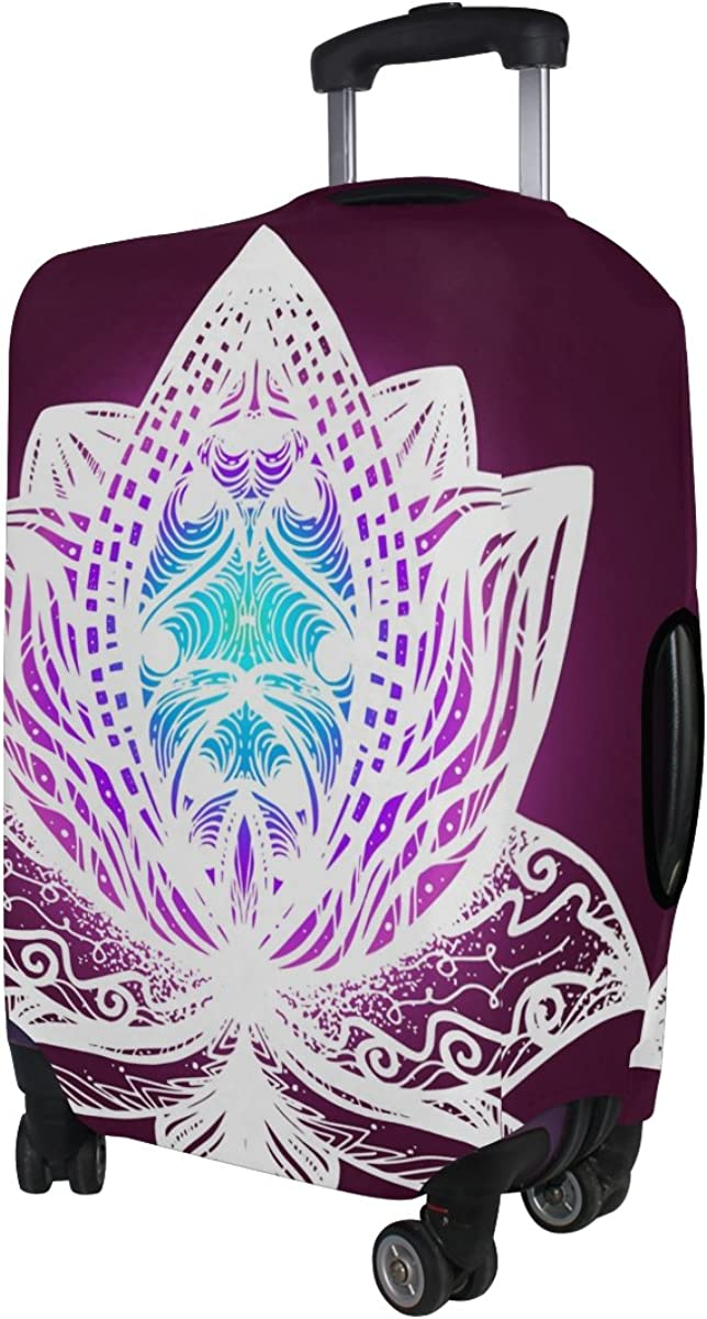 GIOVANIOR Bright Flower Lotus Luggage Cover Suitcase Protector Carry On Covers