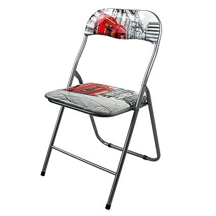 Silla plegable con brillante diseño de Londres silla ...