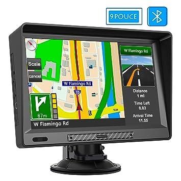 AWESAFE - Navegador GPS para Coche, Pantalla táctil de 9 ...