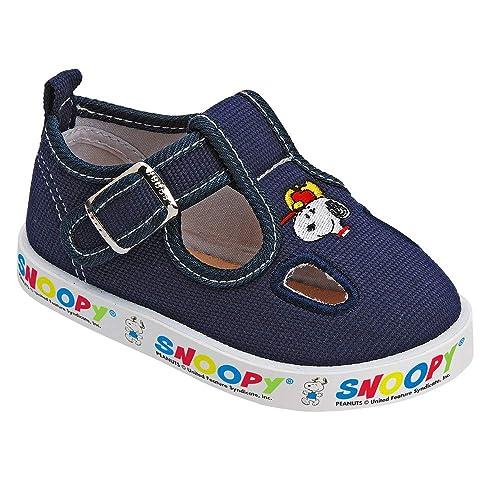 Snoopy-Scarpa Tela Bimbo Due Buchi Sottopiede Cuoio 2211429 ...