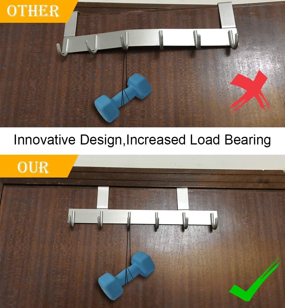 Ganchos Puerta de Aluminio con Destornillador Vicloon Puerta Percha Perchero de para Ba/ño Dise/ño /único para Aumentar la Carga para Puertas de 3.5-4,5 cm de Espesor.