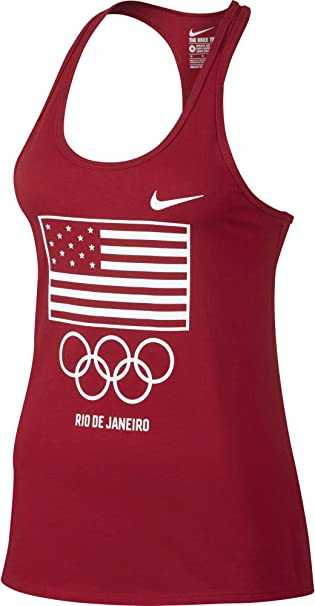 Amazon.com  Nike Womens Team Usa Flag Graphic Tank Top (Small ... 59e8650c21