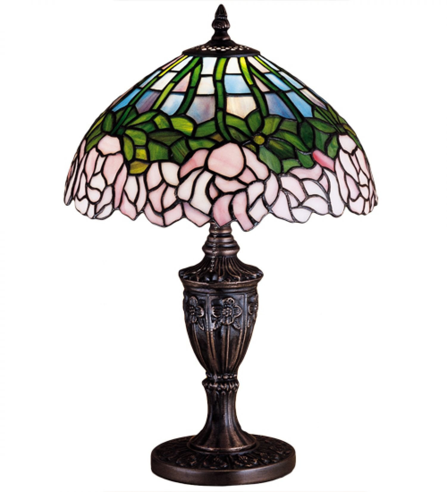 StarSun Depot 18'' H Cabbage Rose Accent Lamp Dry