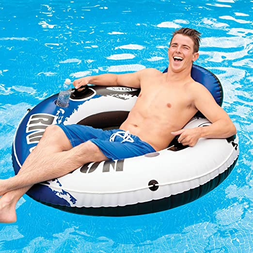 INTEX Flotador Hinchable Gigante River Run Azul: Amazon.es ...