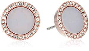 "Michael Kors ""Core"" Acetate and Pave Stud Earrings"