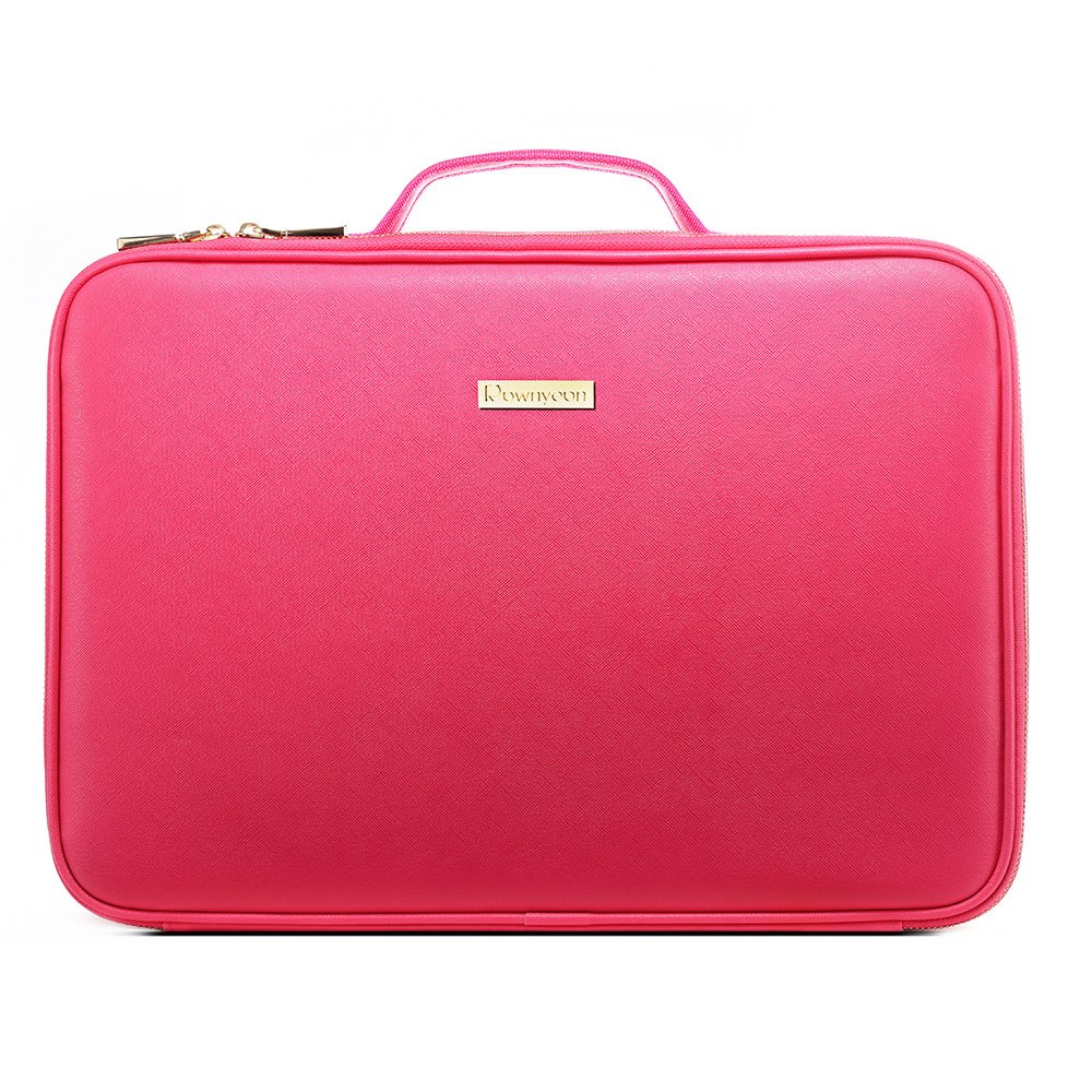 ROWNYEON PU Leather Professional Portable Travel Makeup Case