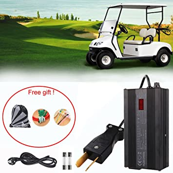 36 Volt Cargador De Batería Carro Club De Golf,GZQES, 36V Cargador Para Club,Bateria para Cohe con Enchufe EU con Pantalla LCD (Negro): Amazon.es: Deportes ...