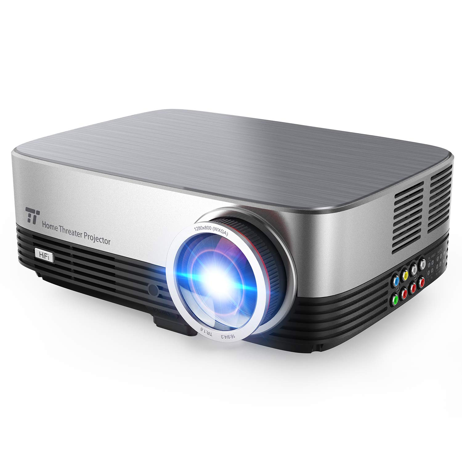 TaoTronics Projector 300 ANSI 3500 lumens 200' 720P Picture, SRS Speakers, Home Theater Projector HDMI VGA AV USB for Movie Business Gaming TT-PR001