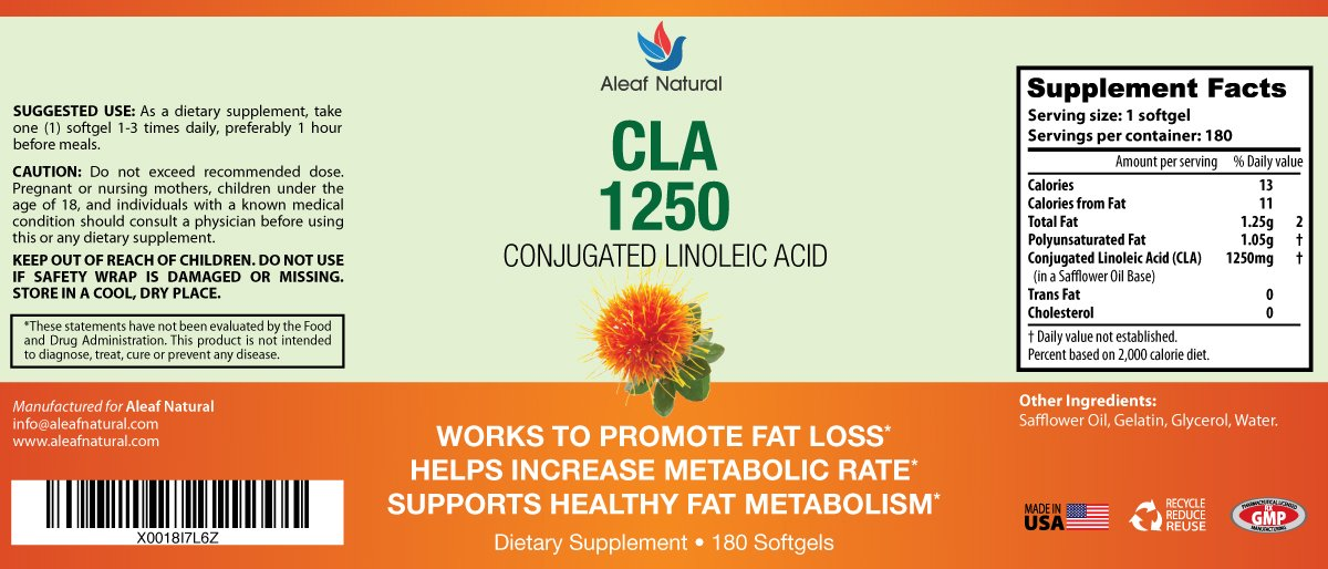 Amazon Com Cla 1250 Safflower Oil All Natural Fat Burner And