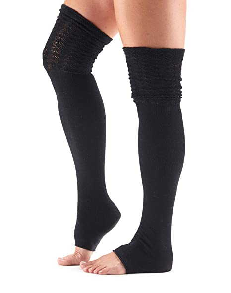 8316cbff9 Amazon.com  toesox Women s Thigh High Sasha Slouch Leg Warmer (Black ...