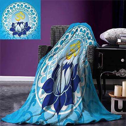 Amazoncom Chakra Throw Blanket Eastern Spiritual Design With Lotus