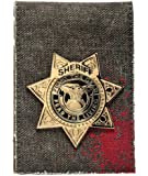 WALKING DEAD RICK GRIMES Sheriff's Metal Badge Bi-Fold WALLET